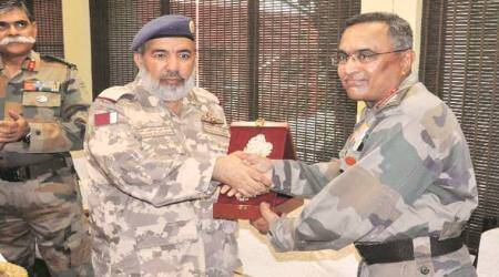 Lt General (Pilot) Ghanim, along with his delegation, met Lt General Manoj Pande, Chief of Staff, Headquarters, Southern Command.