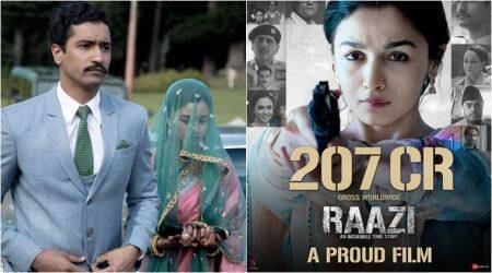 Raazi box office collection: Alia Bhatt's film crosses Rs 200 crore benchmark worldwide