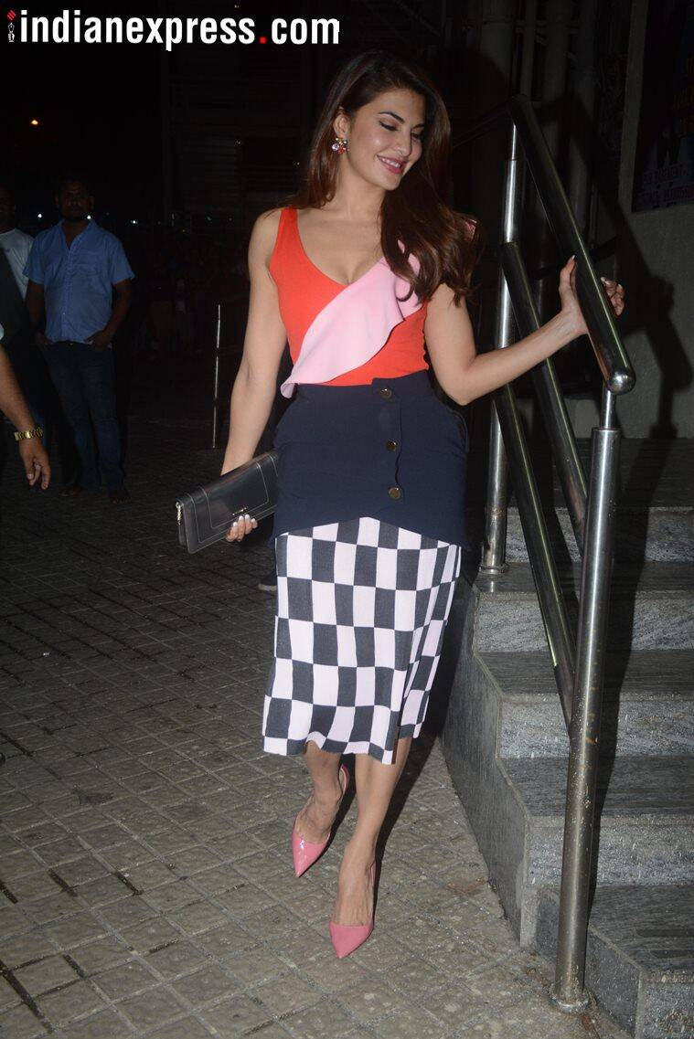 jacqueline fernandez at race 3 screening