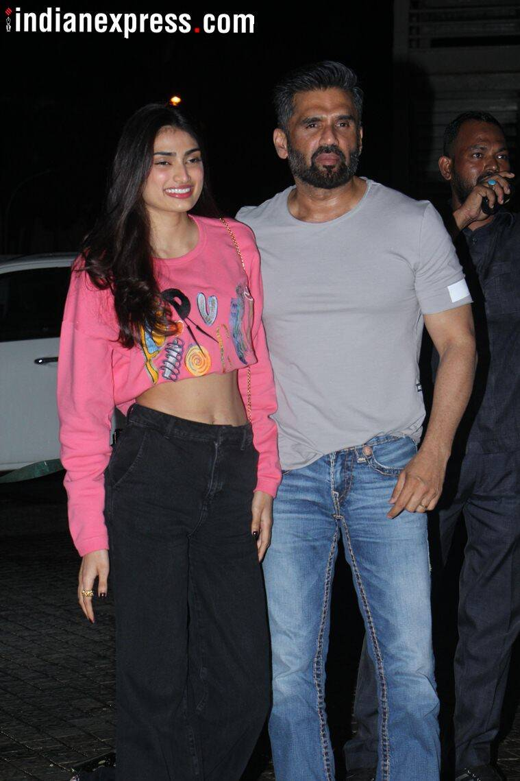 suniel shetty, athiya shetty photos