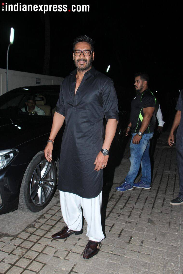 ajay devgn attend race 3 screening