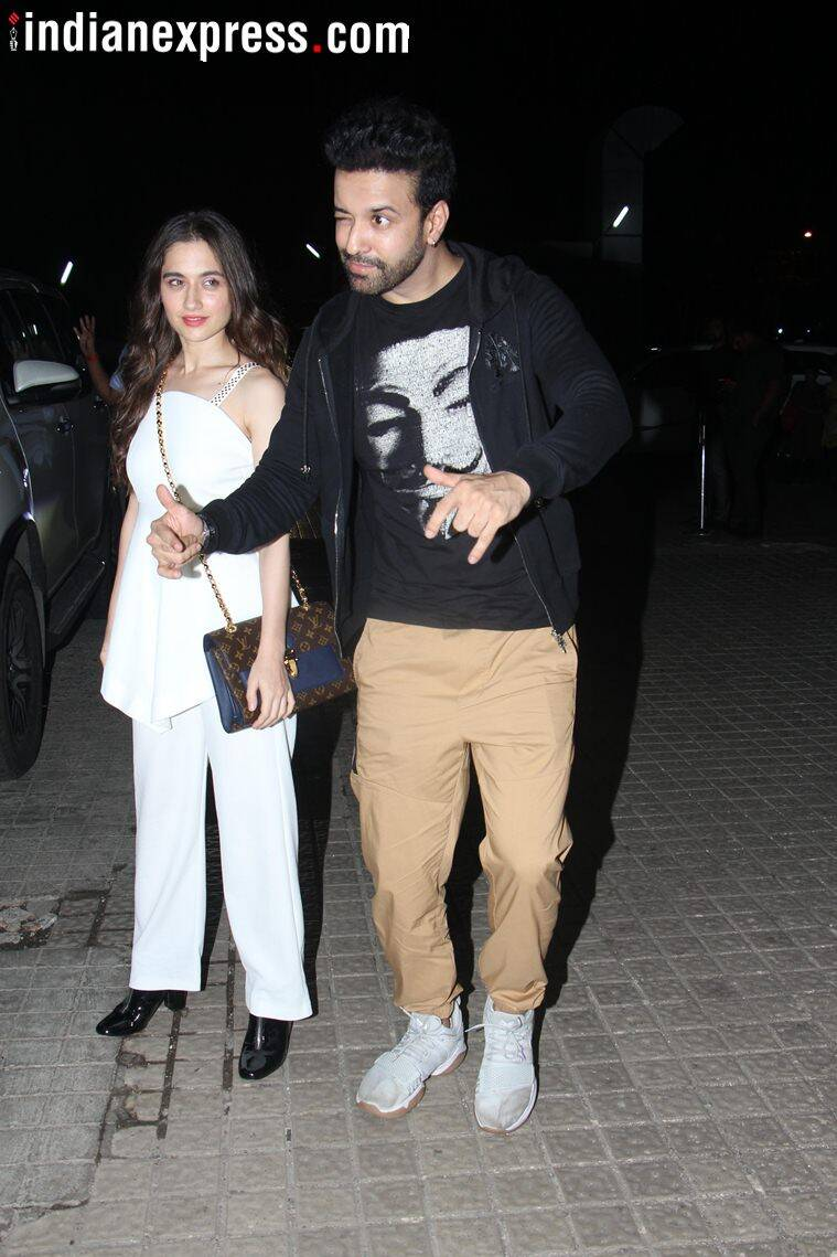 Sanjeeda Shaikh and Aamir Ali at race 3 screening