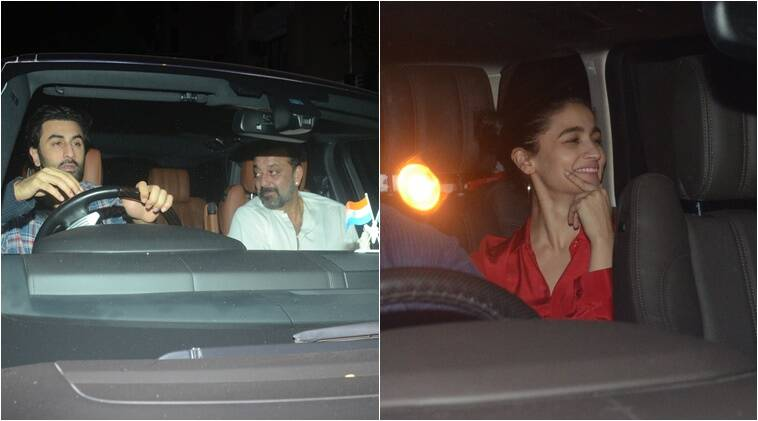 alia bhatt, ranbir kapoor, sanjay dutt party together
