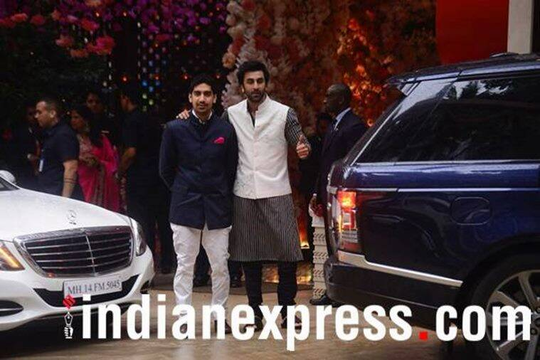 Akash Ambani-Shloka Mehta pre-engagement party, akash ambani, shloka mehta, shah rukh khan, gauri khan, alia bhatt, ranbir kapoor, karan johar, celeb fashion, indian express, indian express news