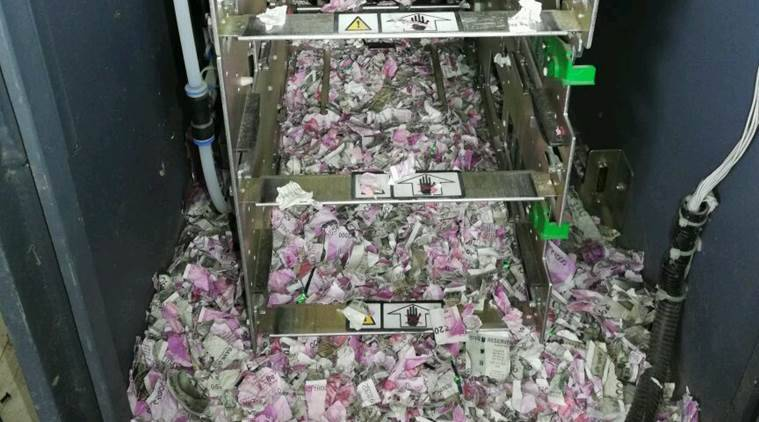 Rats shred bank notes inside India ATM