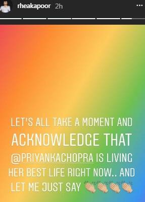 rhea kapoor reacts on priyanka chopra and nick jonas photos