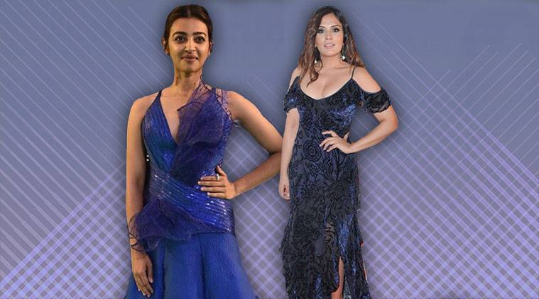 Richa Chadda, Richa Chadda London Film Festival, Richa Chadda fashion, blue dresses, Radhika Apte, Radhika Apte latest photos, Radhika Apte fashion, Radhika Apte IIFA, indian express, indian express news
