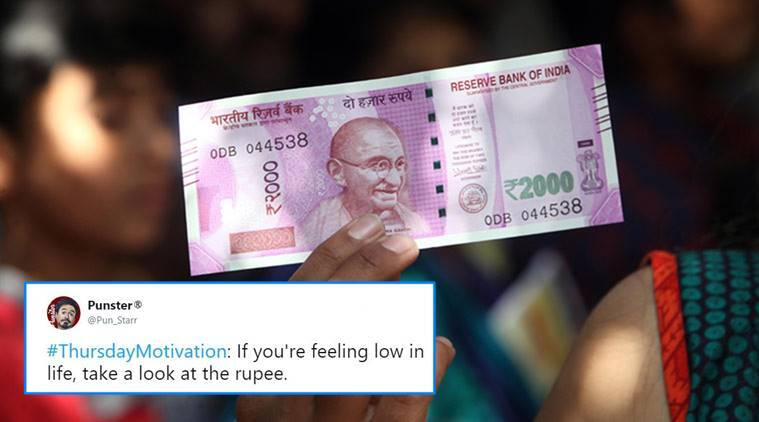 Rupee down, Rupee value down, value of rupee, what is rupee value. why did rupee fall, twitter reactions, indian express, indian express news