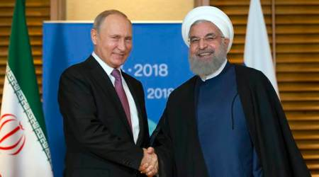 Iran's Hassan Rouhani, Vladimir Putin discuss US exit from nuclear deal
