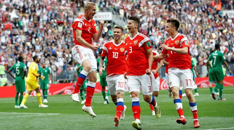 Gazinsky scores first World Cup goal