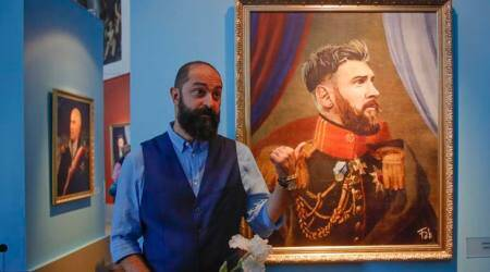 FIFA World Cup 2018: Italian painter reimagines football icons as 19th century kings andgenerals
