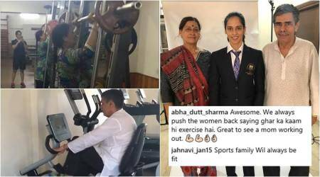 'Inspiring': Netizens cheer as Saina Nehwal's parents join the #FitnessChallenge; watch videos here