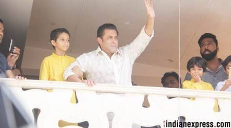 Race 3 actor Salman Khan greets fans on Eid