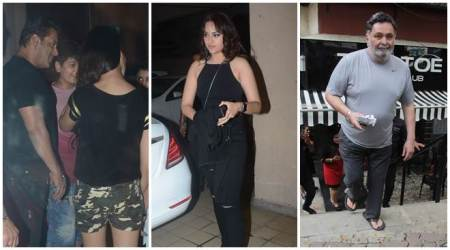 Celeb spotting: Salman Khan, Sonakshi Sinha, Rishi Kapoor and others
