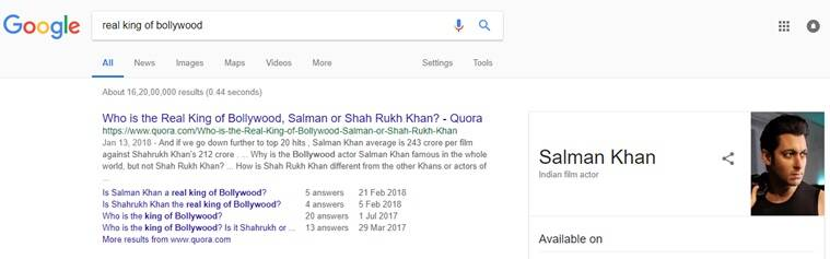 salman khan, salman khan race 3, google salman khan worst actor, salman khan worst actor google Twitter reactions, Salman Khan tweets, Salman Khan worst Bollywood actor, Salman Khan Indian Express, Indian express news, Indian express news