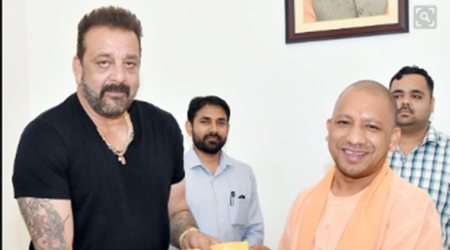 UP CM Yogi Adityanath meets actor Sanjay Dutt as part of 'Sampark for Samarthan' initiative