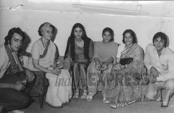 sanjay dutt with sisters