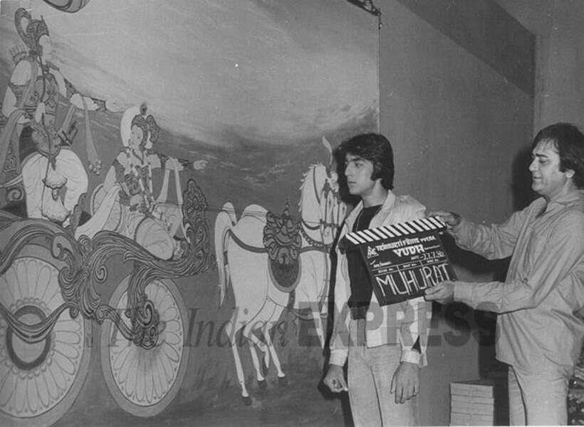 sanjay dutt while shooting for a film