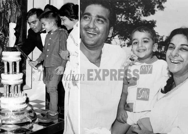 sanjay dutt childhood photos