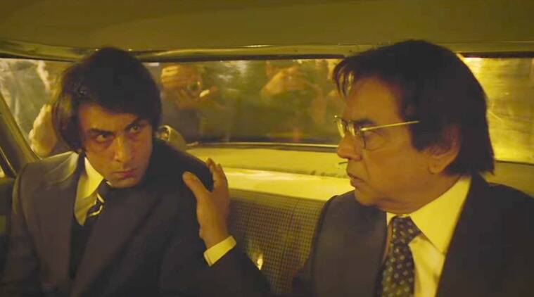 Paresh Rawal and Ranbir Kapoor in Sanju