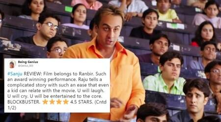 Sanju, Sanju review, Sanju movie review, Sanju movie release, Sanju movie hit, Sanju movie flop, Sanju movie Twitter reactions, Sanju movie Twitter, Sanju movie, Ranbir Kapoor Movie, Sanjay Dutt Biopic movie, Ranbir kapoor movie download, sanju movie download hd, sanju movie download link, sanju full movie download sanju hd movie download, Sanju full hindi movie, Sanju Full Movie Download Online, Sanju Movie Free Download, Sanju movie leaked online, Sanju movie leaked Ranbir Kapoor movie leaked online, movie leaked online, Sanju leaked online, Indian Express, Indian Express News, Sanju Indian Express
