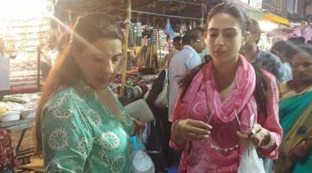 Sara Ali Khan and mother Amrita Singh spotted shopping in Hyderabad