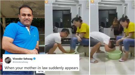 VIDEO: Virender Sehwag's hilarious take on 'when mother-in-law suddenly appears' leaves Twitterati ROFL-ing