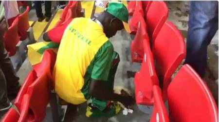 FIFA World Cup 2018: Senegal fans clean stands after 2-1 win over Poland; watchvideo