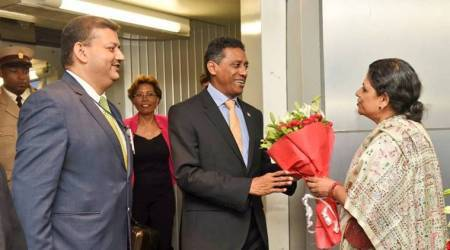 President of Seychelles Danny Antoine Rollen Faure in Ahmedabad on his first bilateral visit to India (Source: MEA/Twitter)