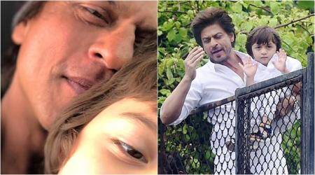 Shah Rukh Khan wishes Eid Mubarak with a photo of AbRam