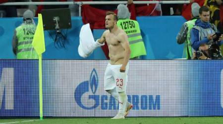 Switzerland score late to sink Serbia in Russia