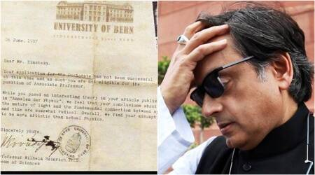 Shashi Tharoor's 'webaqoof' moment: Shares 'FAKE rejection letter to Einstein' on social media