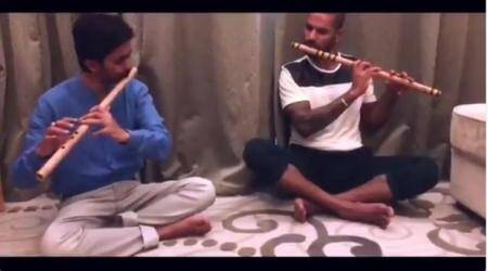 WATCH: Shikhar Dhawan stuns fans – but with a FLUTE, not abat!