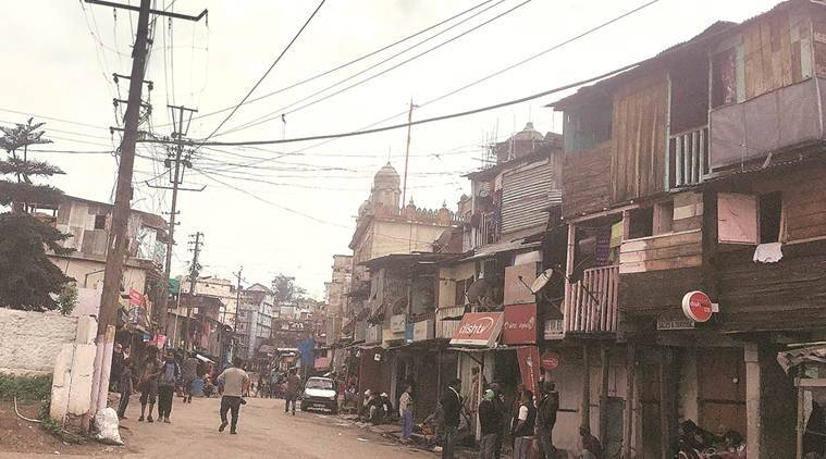 Around 350 families live in 'Punjabi Lane'. (Express photo by Abhishek Saha)