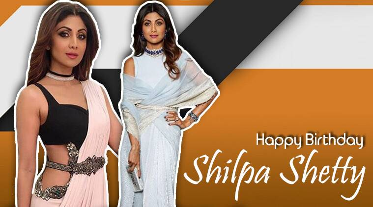 happy birthday shilpa shetty, shilpa shetty, shilpa shetty birthday, hbd shilpa shetty, shilpa shetty belted sari, shilpa shetty latest news, shilpa shetty latest photos, shilpa shetty fashion, celeb fashion, bollywood fashion, indian express, indian express news