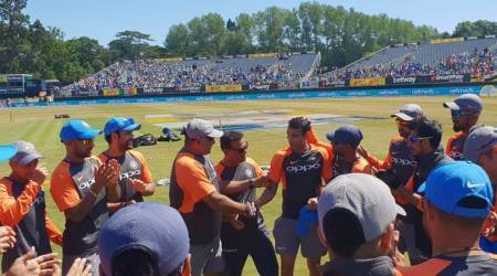 Siddharth Kaul was congratulated by the Indian team management before 2nd Ireland T20
