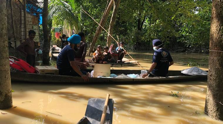 The team also visited Unakoti district in Tripura but the situation proved to be better with flood waters receding. (Express photo)