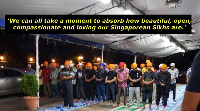 Muslims in Singapore, Muslims served by Singapore sikhs, singapore sikhs langar for muslims, singapore sikhs langar for Muslims Facebook post viral, Indian express, Indian express news