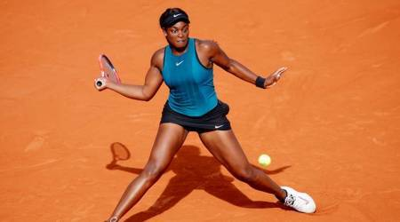 Sloane Stephens of the U.S. in action during her semi final match against Madison Keys of the U.S. in French Open