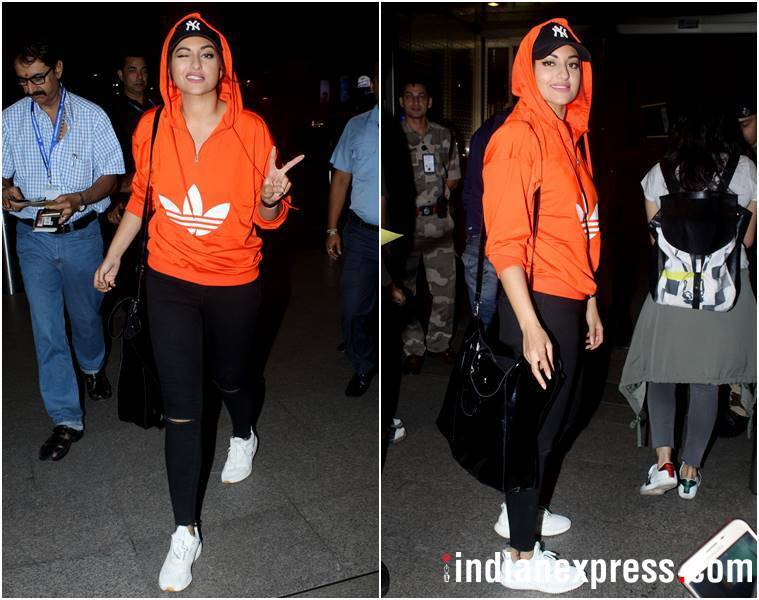 bollywood airport fashion, bollywood travel style, anushka sharma, sonakshi sinha, taapsee pannu, anushka sharma airport fashion, sonakshi sinha airport fashion, taapsee pannu airport fashion, celeb fashion, bollywood fashion, indian express, indian express news