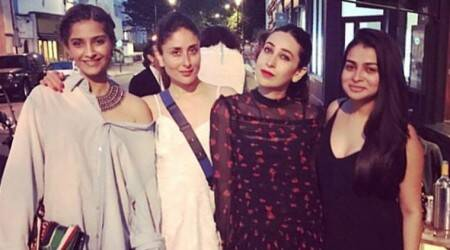 Kareena Kapoor Khan, Karisma Kapoor and Sonam Kapoor keep it comfy yet stylish at a dinner outing