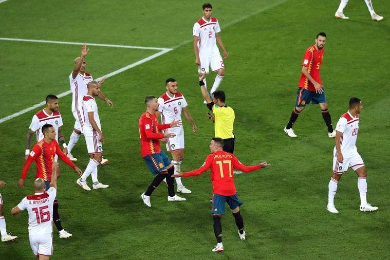 Spain, Portugal, VAR, Morocco, Iran, Limbs Everywhere, Football Is Broken, Twitter Reacts