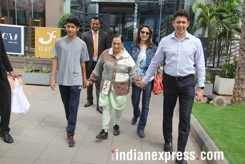 Madhuri Dixit and family