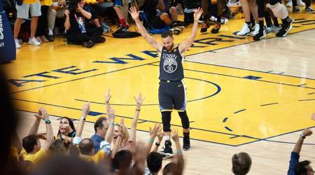 NBA Finals: Golden State Warriors ride on Steph Curry's three-pointer barrage, take 2-0 lead over Cleveland Cavaliers