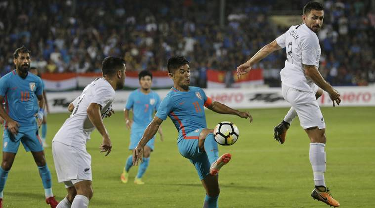Chhetri equals Messi record as India down Kenya