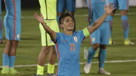 Sunil Chhetri, Sunil Chhetri news, Sunil Chhetri updates, Sunil Chhetri India, India Sunil Chhetri, sports news, football, Indian Express