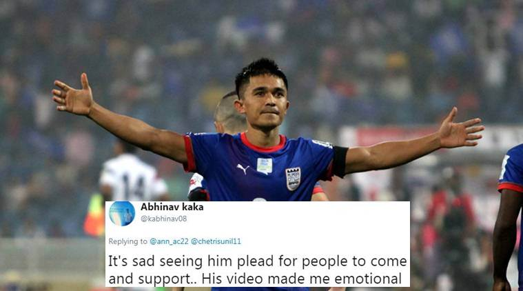 sunil chhetri, chhetri, indian football, chhetri appeals to fans, football in india, football news, Intercontinental Cup, twitter reactions, indian express, indian express news