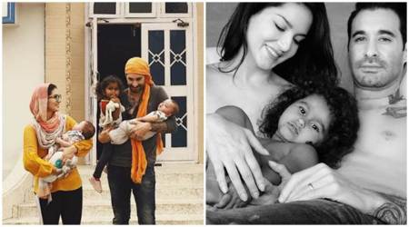 Daniel Weber and Sunny Leone's Father's Day photos go viral