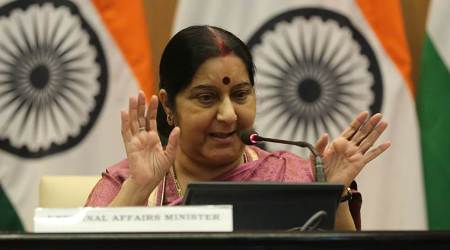 Gandhi, Mandela gave hope to people facing discrimination: Sushma Swaraj