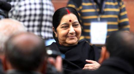 Sushma Swaraj gives a cheeky reply when asked about travel to Bali